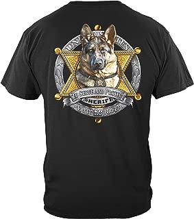 Thin Blue Line T Shirt - Law Enforcement Gear for Men - Law Enforcement - THF2231