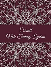 Cornell Note Taking System: Red Color Mandala, 8.5 X 11 Cornell Notes Journal, Note Taking Notebook, Cornell Note Taking System Book, School and College Notebooks