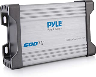 Pyle 4-Channel Marine Amplifier Receiver - Waterproof and Weatherproof Audio Subwoofer for Boat Stereo Speaker & Other Watercraft - 1200 Watt Power,  Wired RCA,  AUX and MP3 Audio Input Cable - PLMRMP4A