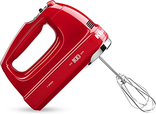 popular KitchenAid new arrival KHM7210QHSD 100 Year Limited sale Edition Queen of Hearts Hand Mixer, 7 Speed, Passion Red (Renewed) sale