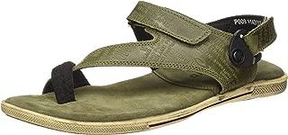 Woodland Men's Gd 1143112y15_Olive Green_9 Leather Outdoor Sandals-9 UK (43 EU) (10 US) 1143112Y15OLIVE