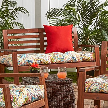 South Pine Porch Outdoor Jamboree Paisley 51-inch Bench Cushion, 1 Count (Pack of 1)
