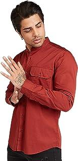 Iconic Men's 2300570 UNI Regular Shirt, Orange