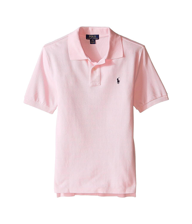 Ralph Lauren Polo Boys Classic Fit Pony Logo Polo Shirt (S/P (8), Carmel Pink)