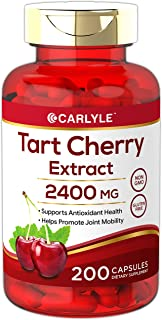 Tart Cherry Extract Capsules | 200 Count | 2400 mg | Non-GMO and Gluten Free Supplement | by Carlyle