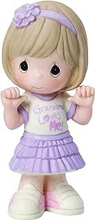 Precious Moments, Grandma Loves Me, Bisque Porcelain Figurine, Girl, 154032