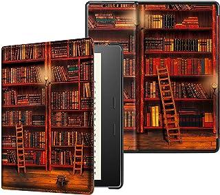 Fintie Kindle Oasis 第10世代 2019 Newモデル / 第9世代 2017 専用保護ケース 軽量 薄型 マグネット機能 オートスリープ機能 PUレザー 保護カバー 開閉式カバー(図書館)
