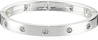 Narrow Hinge with Crystal Bangle Bracelet