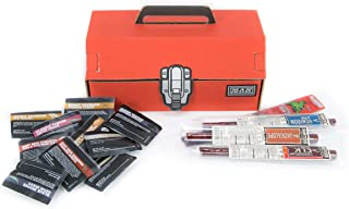 Man Crates Exotic Jerky Tool Box – Unique Gift for Men – Includes 14 Exotic Jerky Flavors Like Alligator, Buffalo And More – In A Delightfully Surprising Tool-Shaped Box