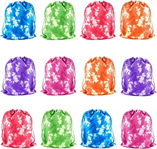 Tytroy Tie-Dyed Camouflage Drawstring Party Favor Tote Pouch Bags Activities Bag (12 pc)
