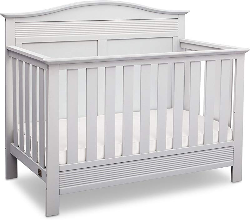 Serta Barrett 4 In 1 Convertible Baby Crib Bianca White
