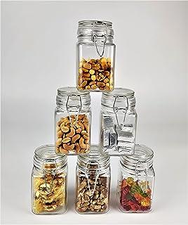 DILAW - 6 x 250 ml bocaux en verre avec couvercle isolant à clip. Flacons avec couvercle rabattable pour le stockage et la...