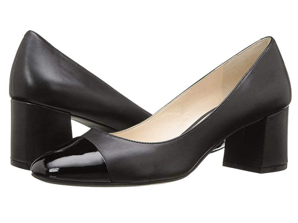 Cole Haan Dawna Grand Pump 55mm II (Black Leather/Patent) Women