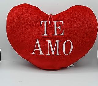 ML cojin Corazon Rojo con Frase te Amo de 45cm