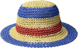 Paper Crochet Stripe Sun Brim (Infant)