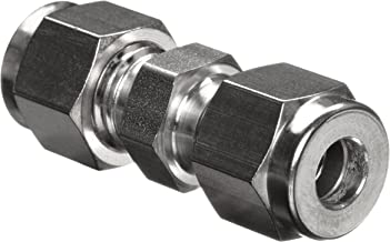 Parker A-Lok 6SC6-316 316 Stainless Steel Compression Tube Fitting, Union, 3/8