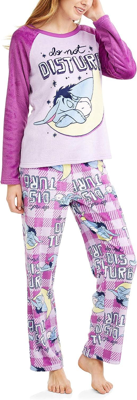 Richard Leeds International Disney Women's Eeyore Plush Minky 2 Piece Pajama Set