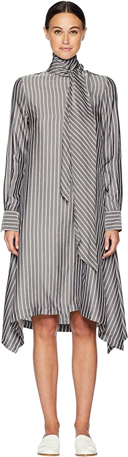 Striped Silk Shirtdress