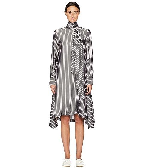 See by Chloe Striped Silk Shirtdress