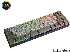 Vortexgear Core RGB Backlit Mechanical Gaming Keyboard 40% Layout - Dark Grey CNC Case - PBT DSA Dye Sub Keycaps - Cherry Mx Switches [CNC Aluminium Casing] (Cherry Mx Silent Red, RGB Backlit)