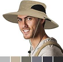 SUN CUBE Premium Outdoor Sun Boonie Hat with Wide Brim, Neck Flap, Adjustable Chin Strap