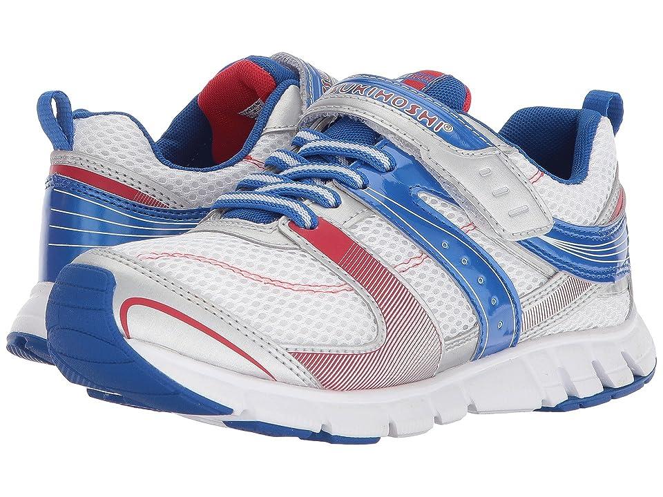 Tsukihoshi Kids Velocity (Little Kid/Big Kid) (White/Blue) Boys Shoes