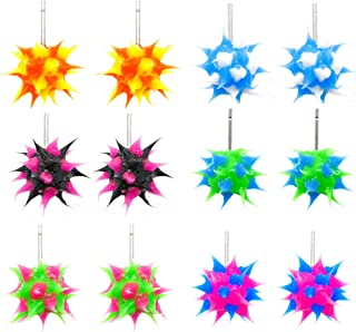 silicone spiky ball earrings