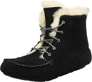 UGG AUSTRALIA chickaree 软拖鞋女式拖鞋 黑色羊皮 7 B(M) US