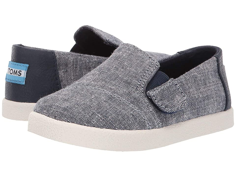 e6b09d79b193 TOMS Kids Avalon (Infant Toddler Little Kid) (Navy Slub Chambray