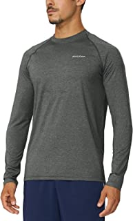 BALEAF Men's Long Sleeve Running Shirts Cool Workout T-Shirts