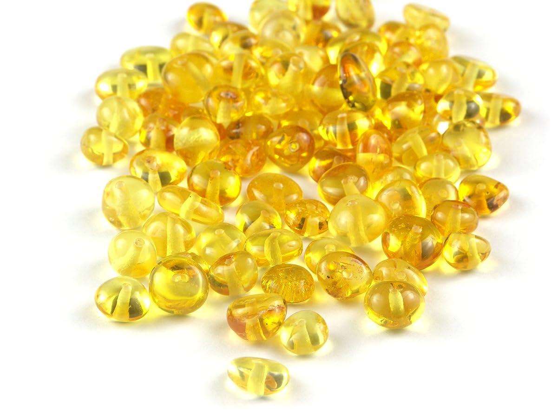 Lemon Baltic Amber Beads, Polished Baroque 6-8 mm, 10 grams