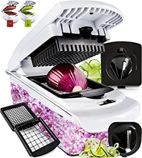 Fullstar Vegetable Chopper – Spiralizer Vegetable Slicer – Onion Chopper with..