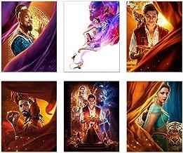 Aladdin Poster Movie Prints Set of 6 (11 inches x 14 inches) - 2019 Will Smith - Naomi Scott - MENA Massoud