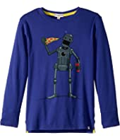 Appaman Kids - Super Soft Pizza Bot Long Sleeve Tee (Toddler/Little Kids/Big Kids)