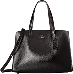 Charlie Carryall in Crossgrain Patent Leather