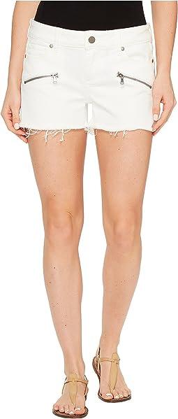 Indio Zip Shorts in Optic White