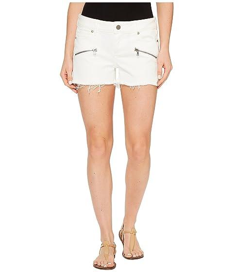 Paige Optic Zip Indio White Shorts in wq6Uw8