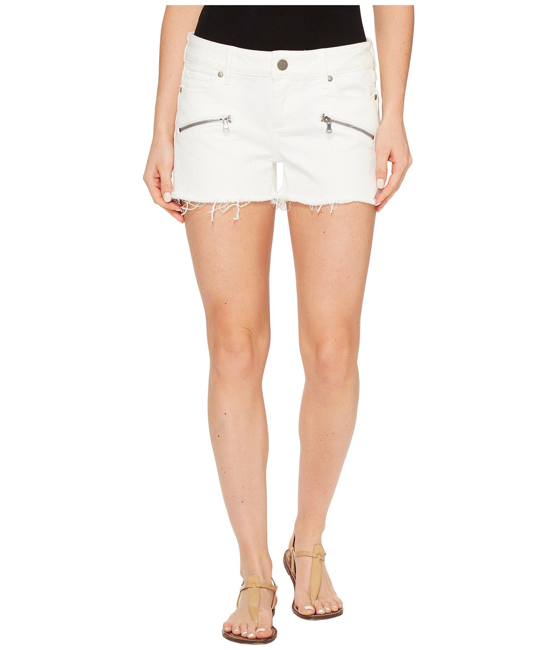Indio Zip Shorts In Optic White, Optic White