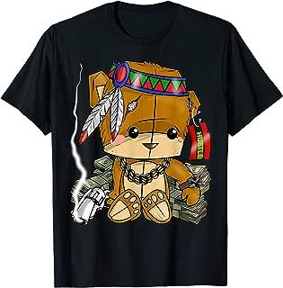 Hustle Clothing For Men Native American Bear Hustler Spirit T-Shirt