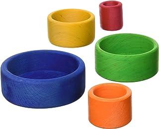 グリムGRIMM'S 玩具 おもちゃ 知育玩具 木製 おままごと 見立て遊び 人間工学 高さ8.5×直径11.5cm 青 はめこ