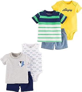 Carter's Baby - Conjunto de 6 Piezas de Playera y Pantalones Cortos