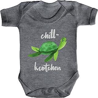 ShirtStreet Turtle Schildkröte Strampler Bio Baumwoll Baby Body kurzarm Jungen Mädchen Chillkrötchen 2