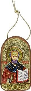 G. Debrekht Saint Nicholas Icon Wooden Ornament