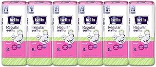 Bella Regular Drai Wings Classic Sanitary Napkins - 8 Pieces (Pack of 6)