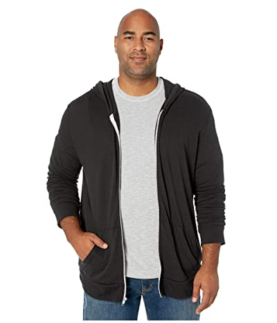 Alternative Big Tall Eco Zip Hoodie (Eco True Black) Men