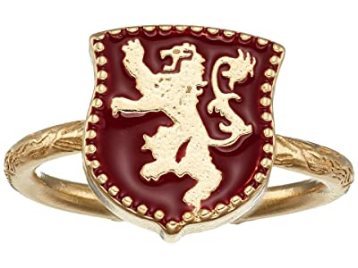 Alex and Ani Game of Thrones, Lannister Signet Adjustable Ring, .925 Sterling Silver (14KT Gold Plated) Ring