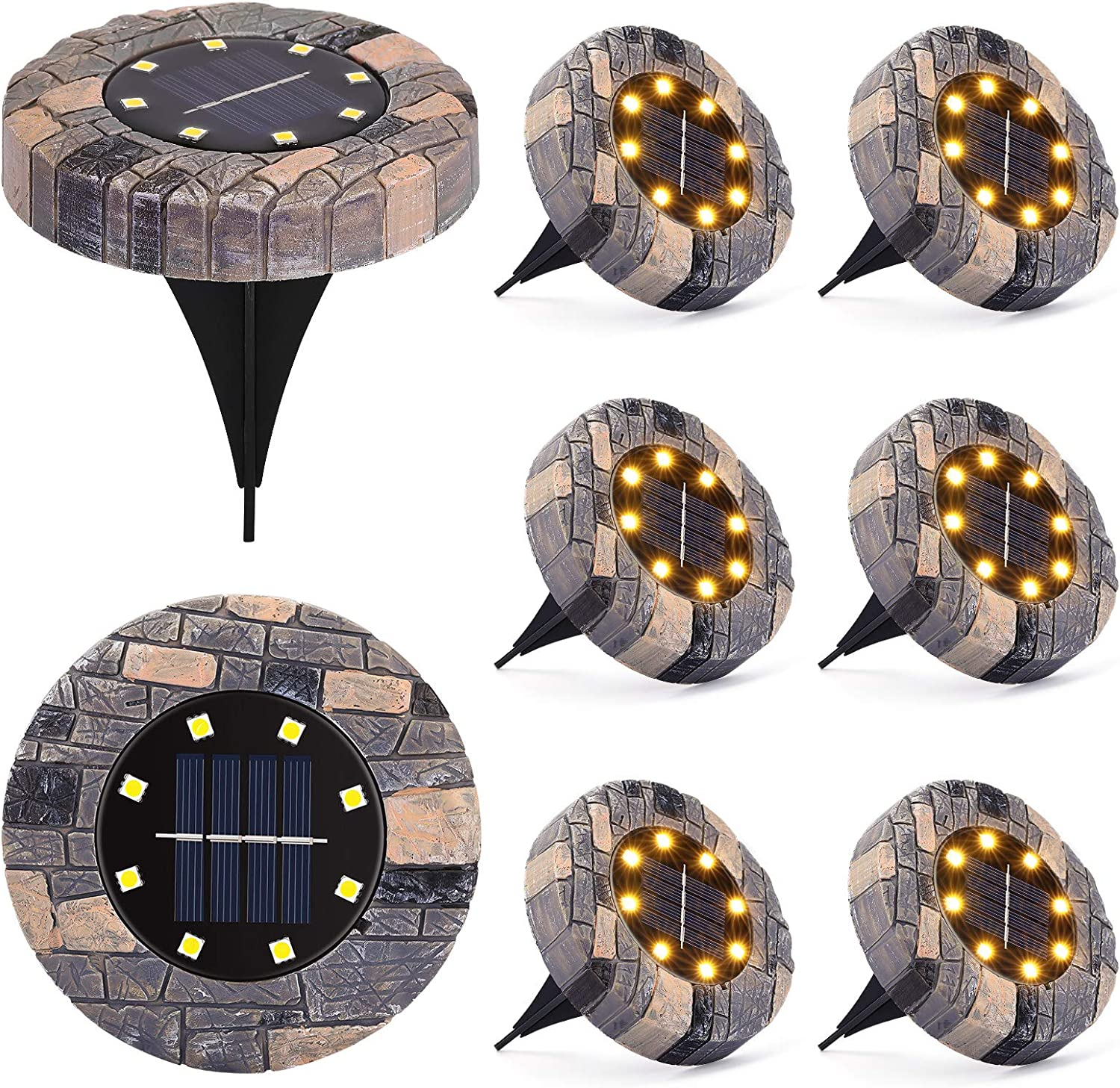 LUNSY Solar Indefinitely Ground Light Lights Waterproof Outdoor Resin Super special price C