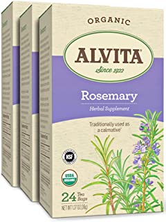 Alvita Organic Rosemary Herbal Tea - Made with Premium Quality Organic Rosemary, And Distinct Flavor and Culinary Aroma, 7...