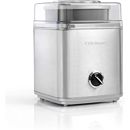 Cuisinart ICE30BCE Sorbetière Deluxe, 2 litres de crème glacée pré-congelée, argent