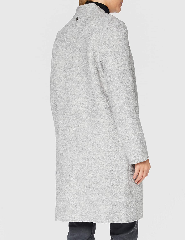 TOM TAILOR Damen Boucle Mantel Jacke 24050 - Mid Grey Melange